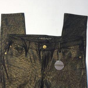 NWT Celebrity Pink Silent Disco Black & gold Jeans